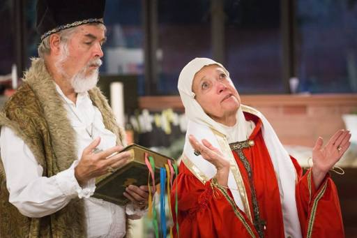 David and Linda Brown performing in Henry V