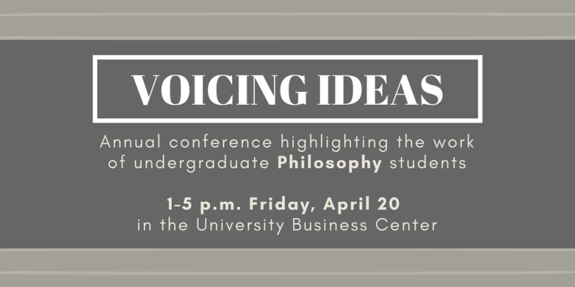 Flyer for Voicing Ideas conference