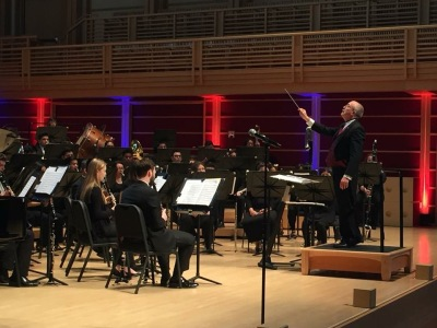 Dr. Gary P. Gilroy conducts the Fresno State Wind Orchestra