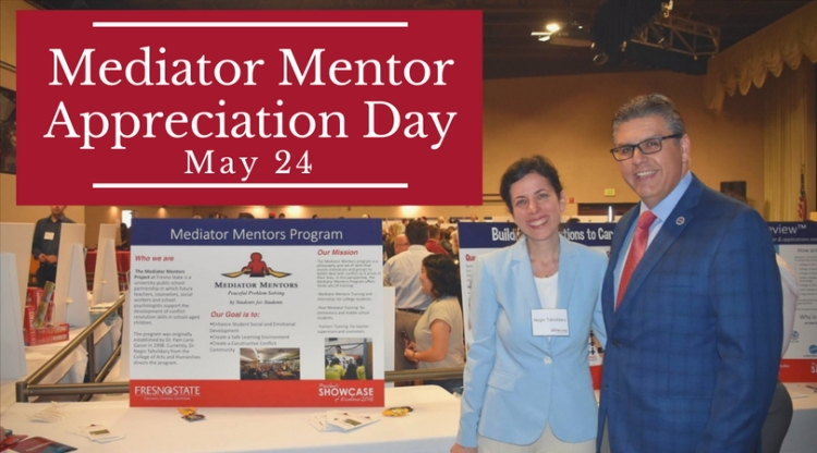 Mediator Mentor Appreciation Day May 24 (Pictured Dr. Tahvildary and President Castro)