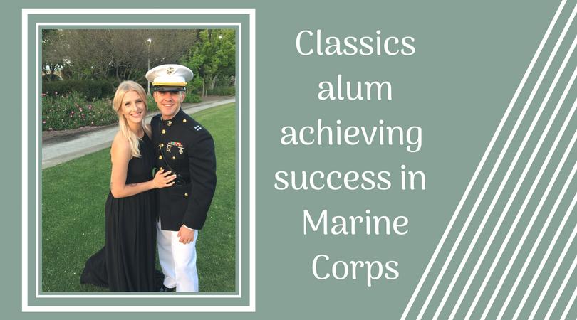 Classics alum achieving success in Marine Corps