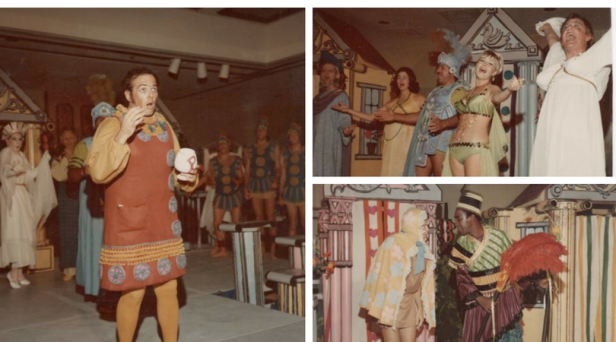 """Dan Pessano in the 1973 performance of """"Forum I"""" at the Fresno Hilton."""