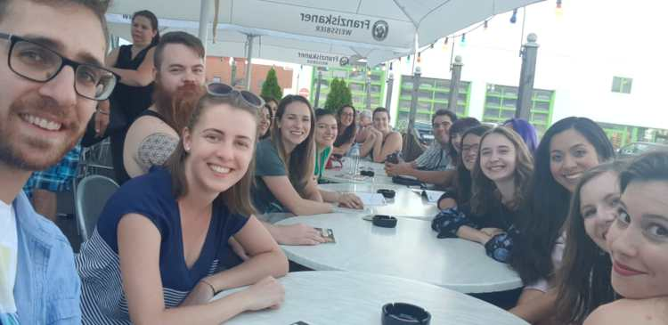 Students enjoying Germany