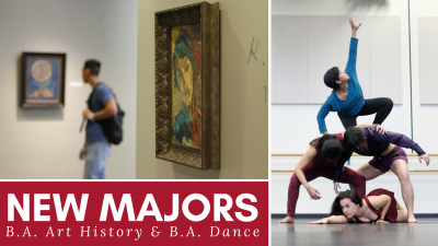 Fresno State College of Arts and Humanities offers two new majors: B.A. in Art History and B.A. in Dance.