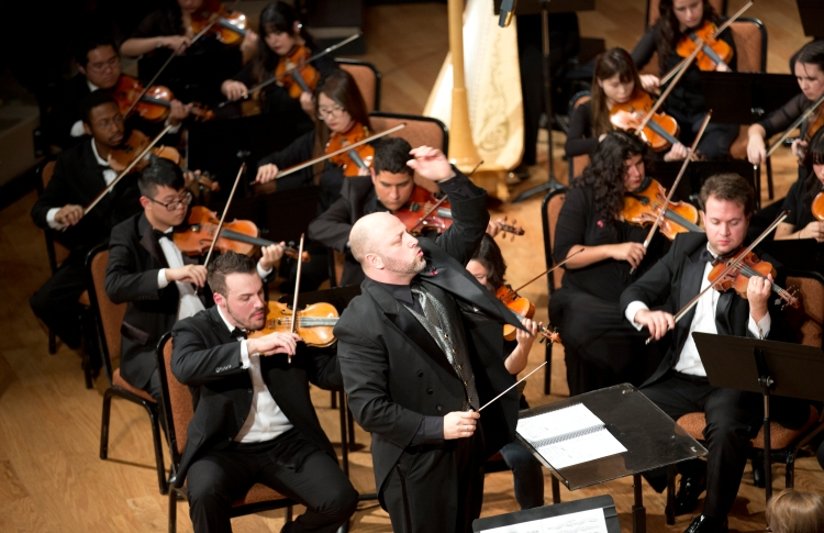 Dr. Thomas Loewenheim leads the Fresno State Symphony Orchestra