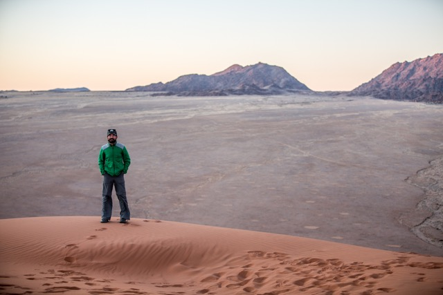 Professor Jes Therkelsen in the Republic of Namibia.