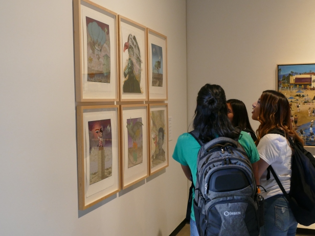 Students visit the Faculty Art Show