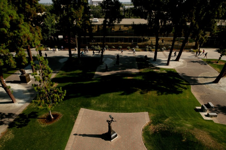 View of the Fresno State Peace Garden