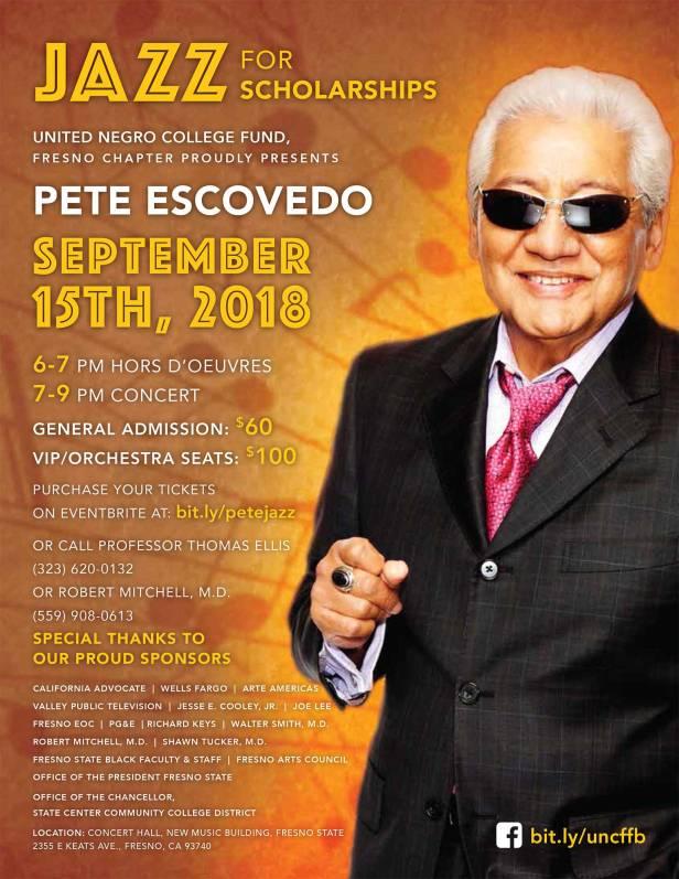 Pete Escovedo concert flier