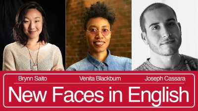 New Faces in English: Brynn Saito, Venita Blackburn, Joseph Sassara