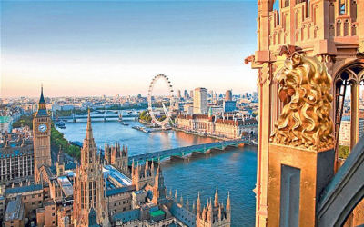 Elevated photo of London