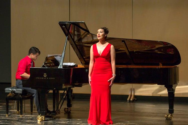 Alejandra Tejeda performs 'Morgen' during Summer Arts in Germany