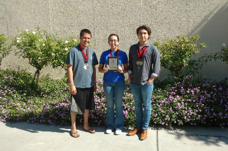 Nick Mirza, Primavera Martinez, and Aaron Lowe With SDSU Awards