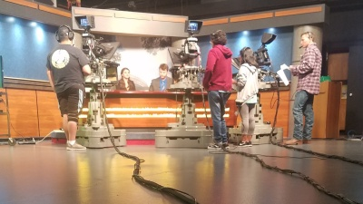 Fresno State Focus student prepare to go on air