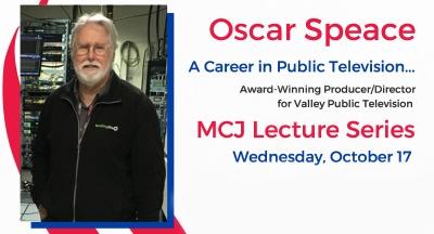 Oscar Speace - MCJ Lecture Series flier