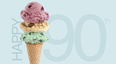 Happy 90th with Ice Cream
