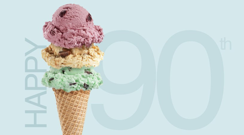 Happy 90th with Ice Cream