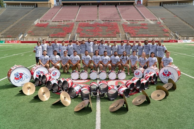 Fresno State Marching Band Percussion section