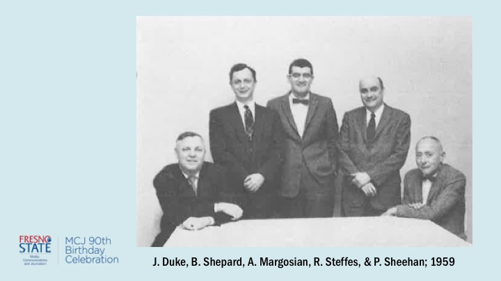 J. Duke, B Shepard, A. Margosian, R. Steffes, and P. Sheehan; 1959