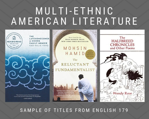 Multi-Ethnic American Literature book covers