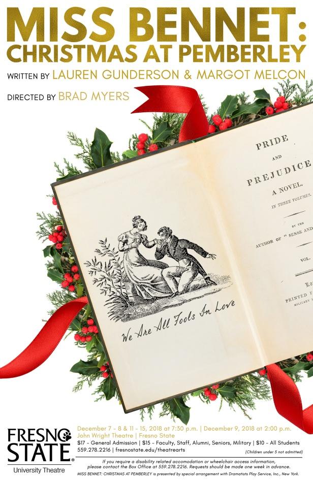 Miss Bennet: Christmas at Pemberley flier
