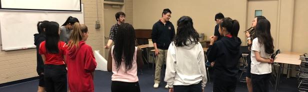 Teaching inside SJMHS classroom