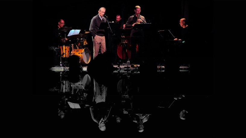 Philip Levine, Benjamin Boone and the band in the studio