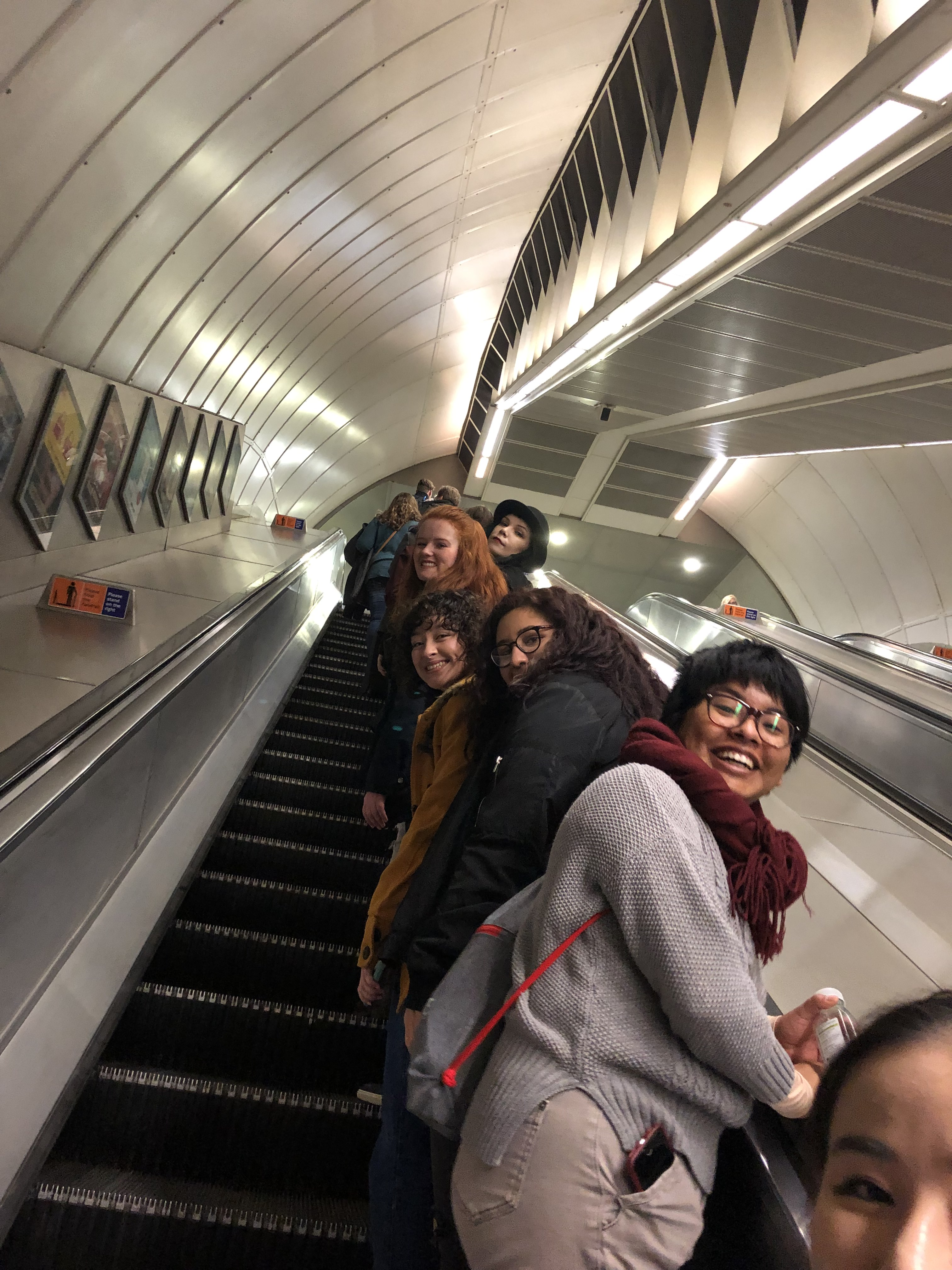 The London Tube. Students learned quickly that you stand on the right and walk on the left.