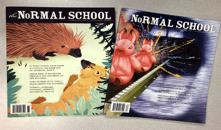 The Normal School magazine covers