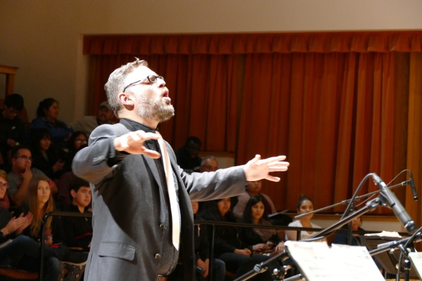 Richard Giddens conducts the Fresno State Jazz Orchestra