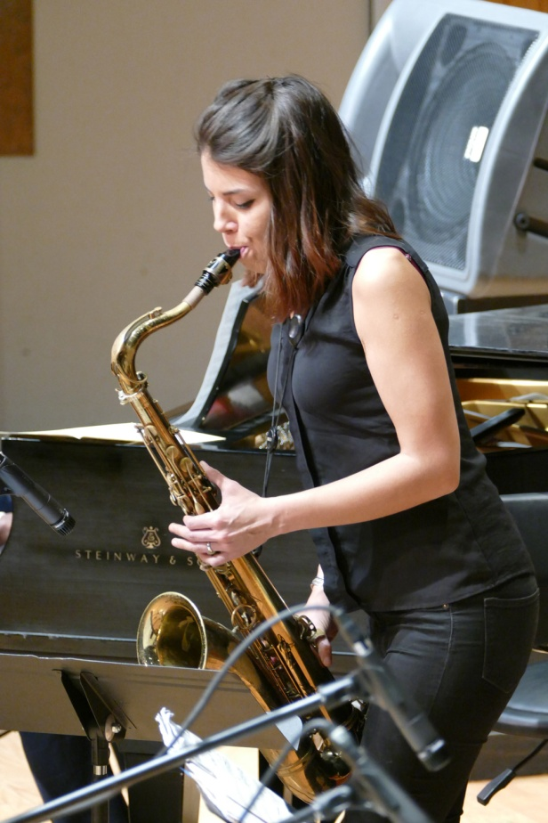 Guest artist Melissa Aldana on the saxophone