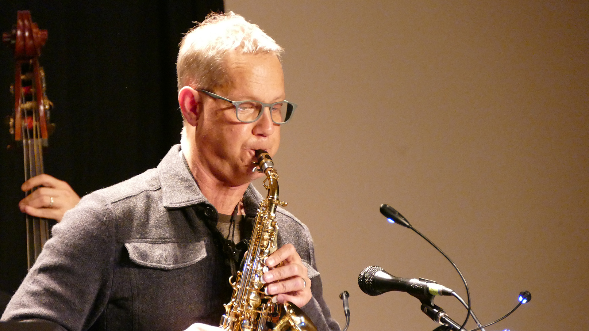 Benjamin Boone during 'The Poetry of Jazz, Vol. 2' release concert