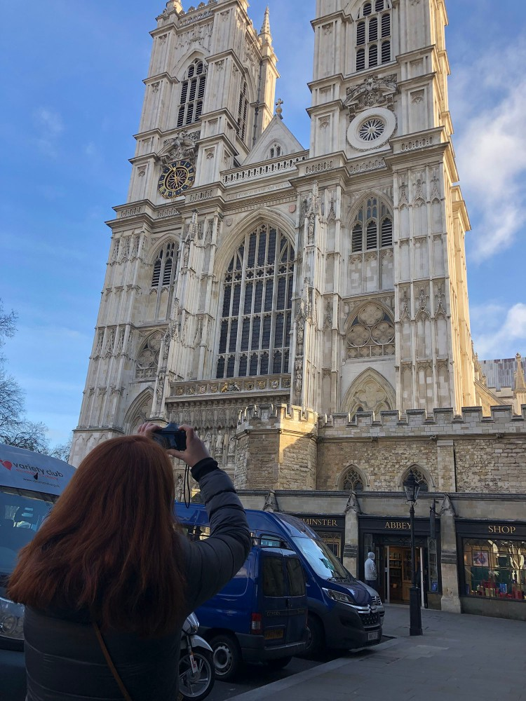 Kayleigh O'Connor captures the front of Westminster Abbey in a beautiful morning light. We had spent most of the morning in the Abbey where photos are not allowed.
