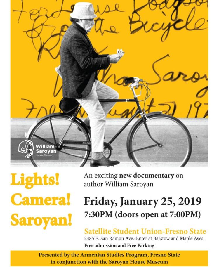 Lights! Camera! Saroyan! flier