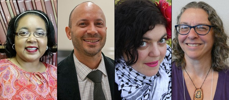 Dr. Reva E. Sias, Dr. William Arcé, Prof. Randa Jarrar, and Dr. Alison Mandaville