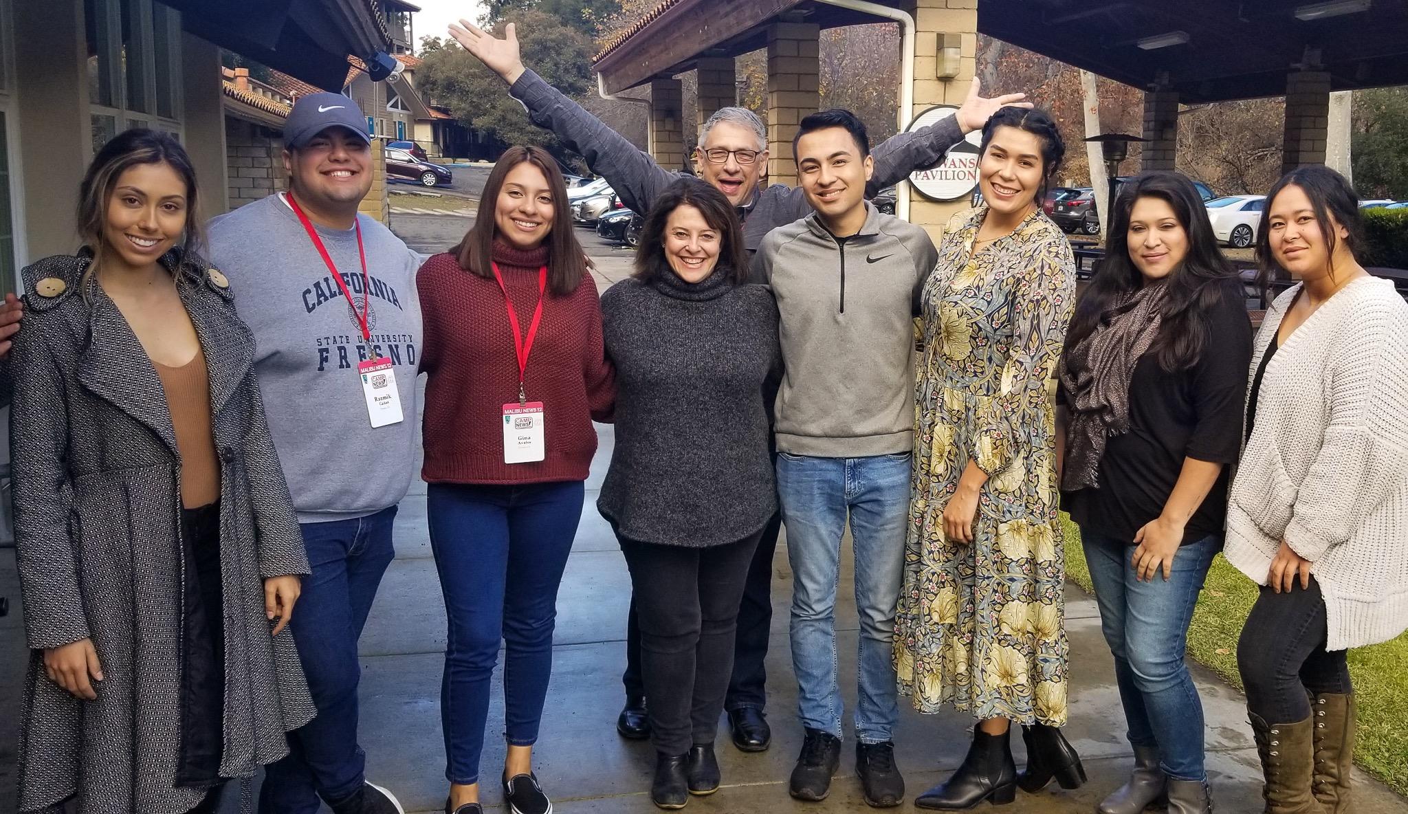 Chelsea Chavira, Razmik Cañas, Gina Avalos, Faith Sidlow, Hal Eisner [Fox 11 LA reporter] (Behind Faith), Tony Salazar, Ishshah Padilla, Tori Lavon Custodio, Alodie Resendiz