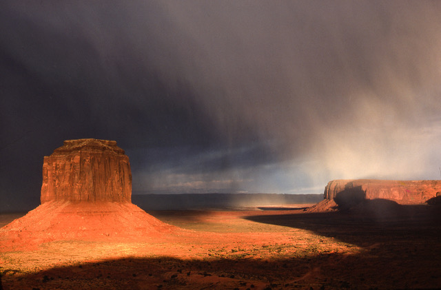 Snowstorm in Monument Valley, 1976