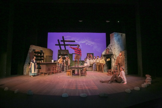 "Maggie Srmayan's set design for ""The Playboy of the Western World."" Photo Credit: University Theatre"