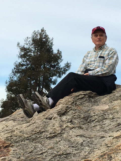 Dr. Ray McKnight on Indian Rock in Berkeley.