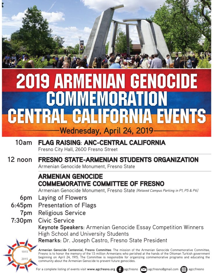 Armenian Genocide Commemoration flier