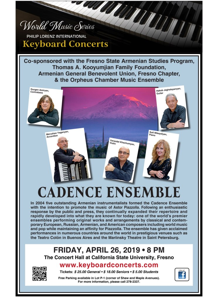Cadence Ensemble event poster