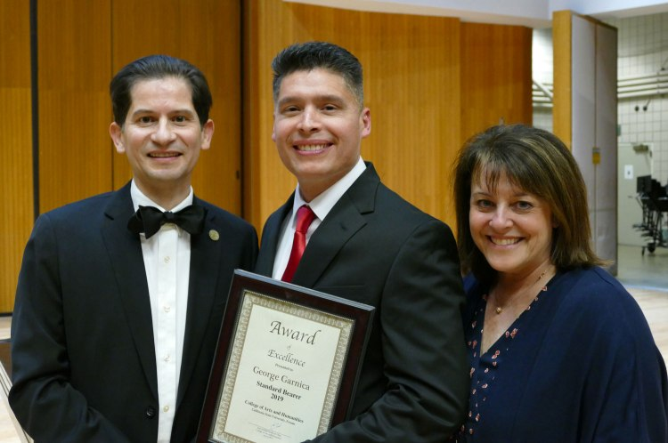 Dean Saúl Jiménez-Sandoval, George Garnica and Faith Sidlow.