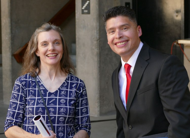 MCJ Assistant Professor Carey Higgins-Dobney and George Garnica.