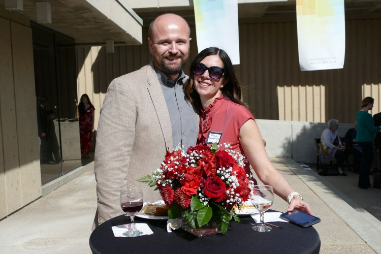 Mason Lamb and his wife Rhiava Beaumont-Lamb at the Arts in Motion Reception.