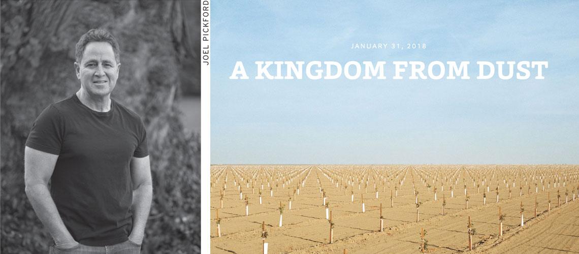 "Mark Arax by Joel Pickford and ""A Kingdom from Dust"" screenshot from www.californiasunday.com"