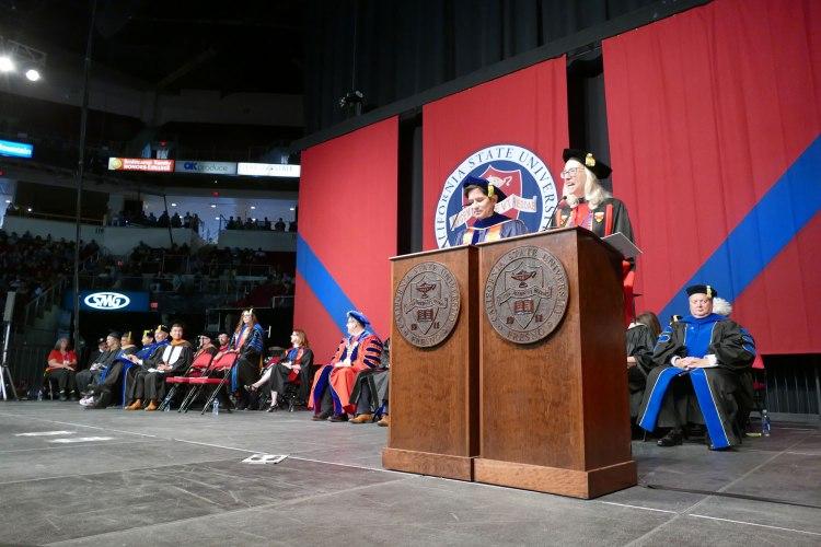 The 'Dean Dream Team' -- Dr. Saúl Jiménez-Sandoval, dean, and Dr. Honora Chapman, Associate Dean.