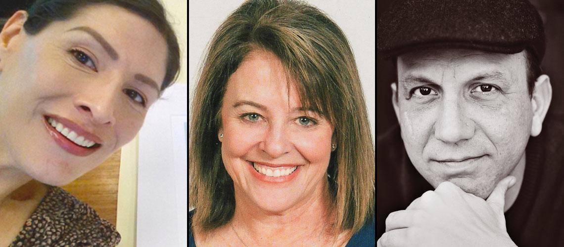 Dr. Melanie Hernandez, Faith Sidlow and Steven Church