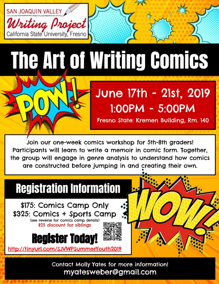 The Arts of Writing Comics Flier