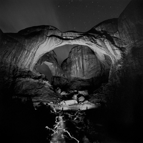 Orchestrated Light Painting of Double Arch, 2004, Gelatin silver print