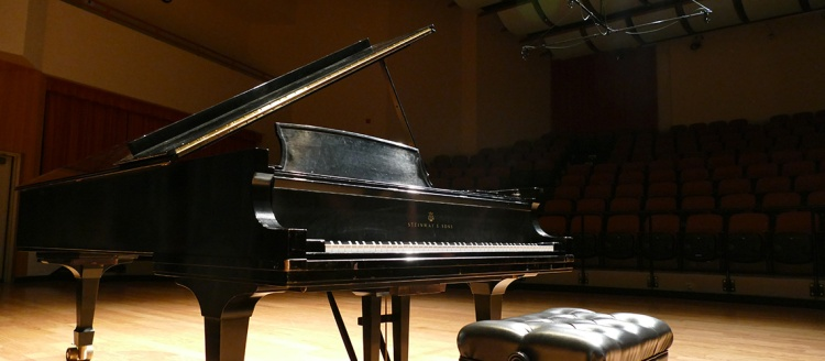 Steinway Model D in the Fresno State Concert Hall